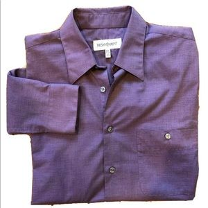 Yves St Laurent Button Down Shirt 15 1/2 34-35 M